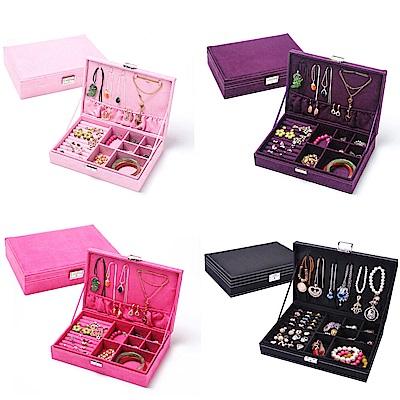 【AJ雜貨】韓國公主 歐式木質首飾盒 珠寶盒 大容量 耳環 戒指 項鍊