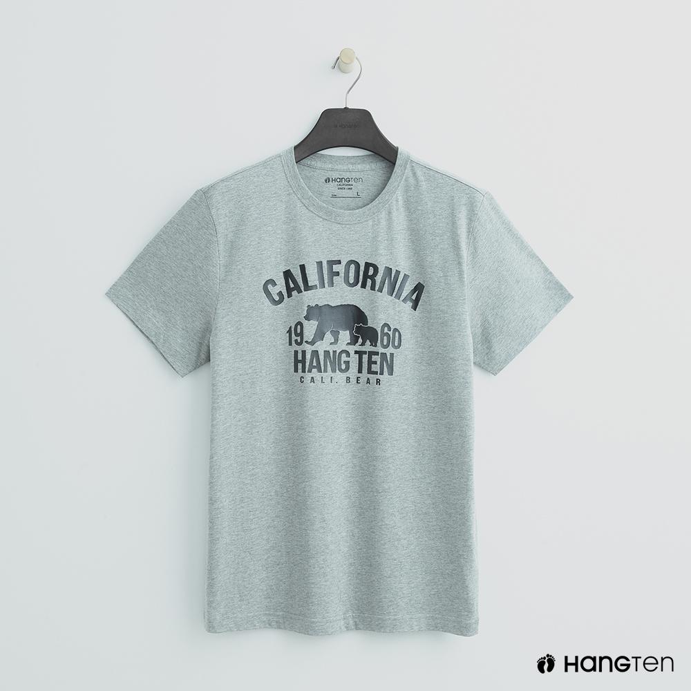 Hang Ten - 男裝 - 加州圖印圓領T恤 - 灰