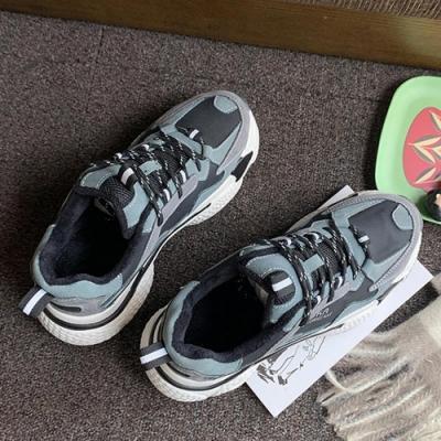 韓國KW美鞋館 輕漾甜美時尚街頭老爹鞋-綠