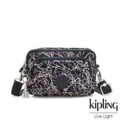 Kipling 英式粉漆塗鴉兩用腰間側背包-MULTIPLE