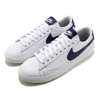 Nike 休閒鞋 Blazer Low 運動 女鞋 基本款 簡約 舒適 皮革 穿搭 白 藍 AV9370119
