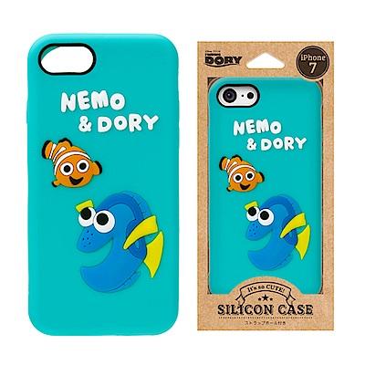 iPhone 8/7 迪士尼 正版授權 可愛/矽膠 手機軟殼 4.7吋-尼莫與多莉