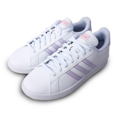 ADIDAS 休閒鞋 運動 復古 皮革 女鞋 白粉紫 FX3446  GRAND COURT
