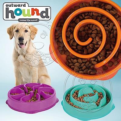 美國Outward Hound-寵物迷宮慢食碗系列-大30*30*6.5cm