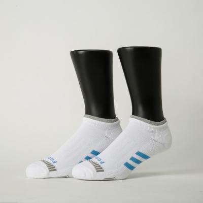 Footer除臭襪-輕壓力三線運動船短襪-六雙入(灰*2+白*2+藍*2)