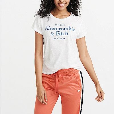 麋鹿 AF A&F 經典印刷文字設計短袖T恤(女)-白色