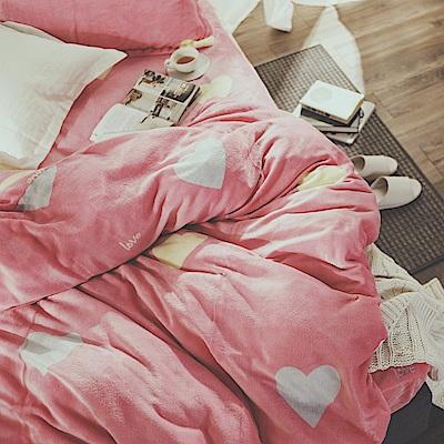 絲薇諾 甜蜜蜜 單人加大三件式-法蘭絨鋪棉床包被套組
