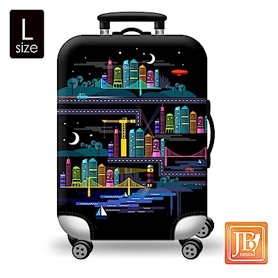 繽紛行李箱套--星空城市L