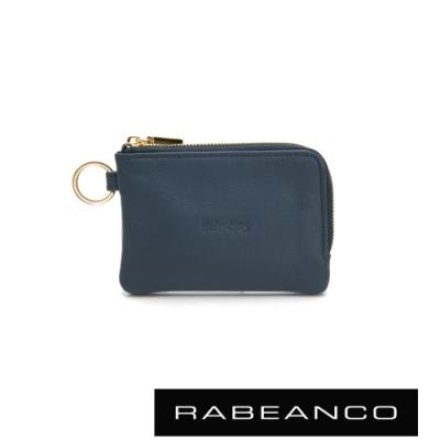 RABEANCO 迷時尚系列鑰匙零錢包 墨水藍