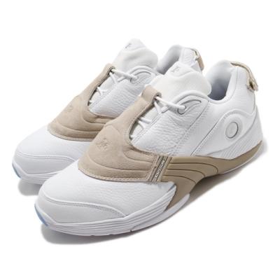 Reebok 籃球鞋 Answer V Low 運動 男鞋 避震 包覆 明星款 戰神 五代 穿搭 白 卡其 EF7603