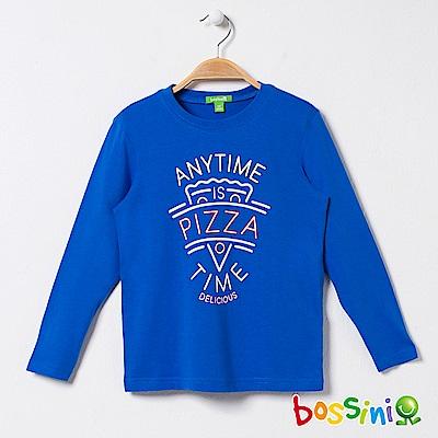 bossini男童-印花長袖T恤08藍紫