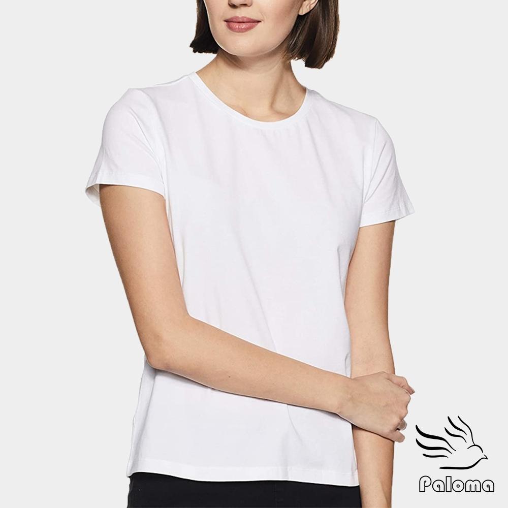Paloma台灣製極涼感網眼排汗衫女款-白色 女T 短T