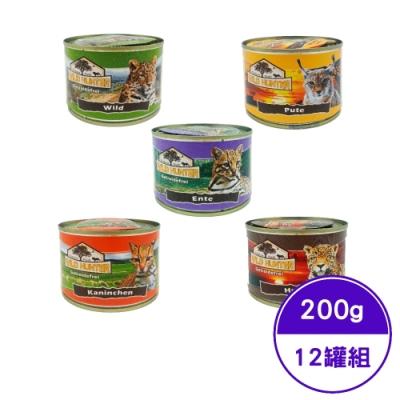 德國WILD HUNTER狩獵者無榖主食貓罐 200g (12罐組)