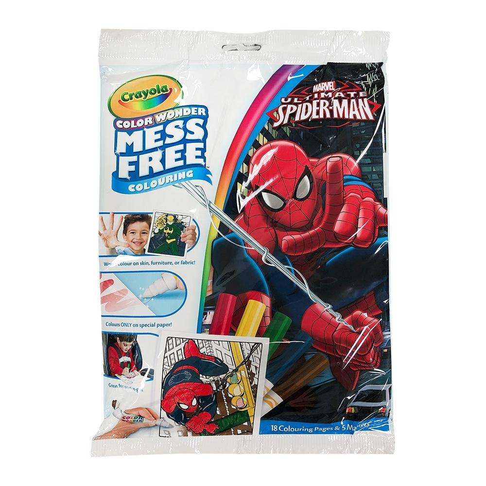 美國crayola 繪兒樂 神彩著色套裝-蜘蛛人