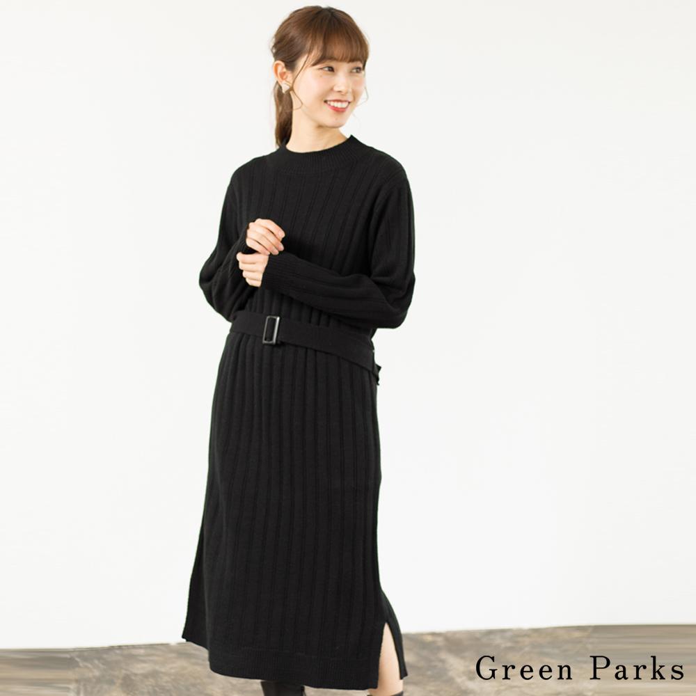 Green Parks 針織長版腰帶連身裙