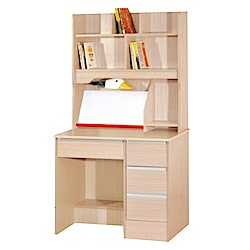 綠活居 皮莎3尺書桌/電腦桌組合(四色可選+上下座)-90x54x150cm-免組