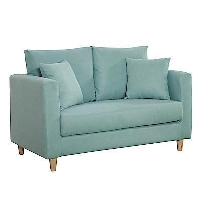 文創集 卡波亞時尚亞麻布雙人沙發椅-126x73x63cm-免組