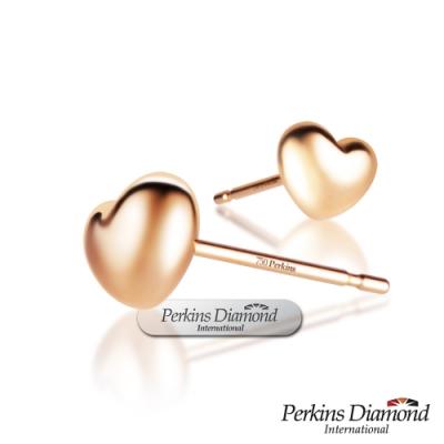 [母親節早鳥限定優惠]PERKINS 伯金仕 RoseHeart系列 18K金耳環