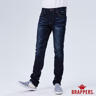 BRAPPERS 男款 中腰彈性修身直筒褲-藍