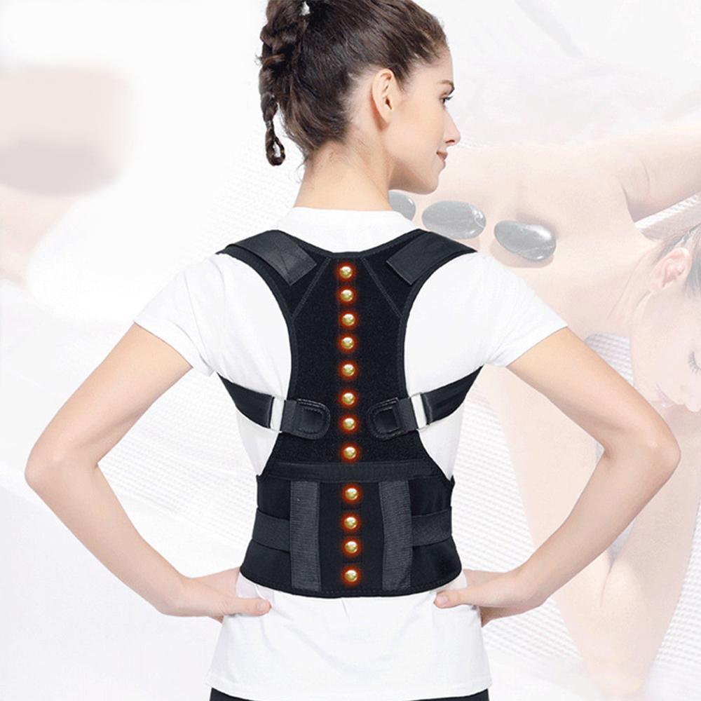 日式深海磁石挺胸縮腰防駝背矯正護具