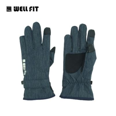 WellFit 輕量防水觸控保暖手套【丹寧藍】(登山、旅遊、保暖、機車、滑雪)