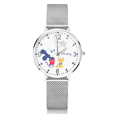 Disney迪士尼 米蘭帶手錶 Q版米奇 布魯托34mm