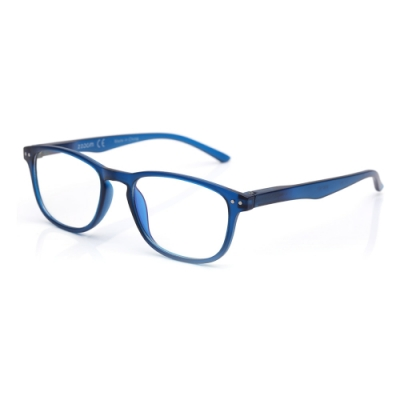 【 Z·ZOOM 】老花眼鏡/平光眼鏡 抗藍光防護系列 知性矩形細框款(藍色)