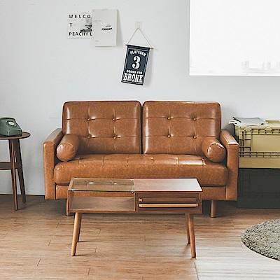 完美主義 沙發/雙人/皮質/腳可拆-140x77x81