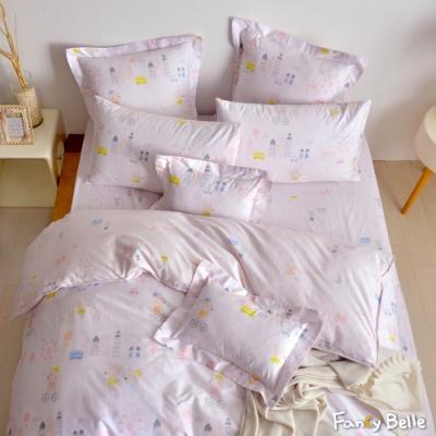 義大利Fancy Belle《美好生活》單人純棉防蹣抗菌吸濕排汗兩用被床包組