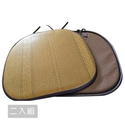 【范登伯格】仲夏頌 質草餐椅墊 -新藤園 (38 x 42cm)-二入組