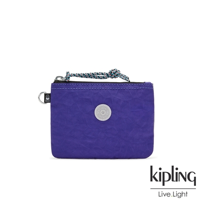 Kipling 率性靛藍紫簡約休閒小型配件包-CASUAL POUCH S