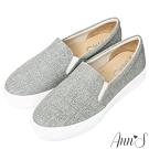 Ann'S進化2.0!貓抓不爛防水防刮足弓墊腳顯瘦厚底懶人鞋-灰
