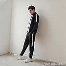 GIORDANO 男裝G-MOTION側邊字母運動束口褲 -09 標誌黑