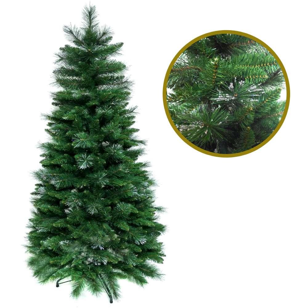 摩達客 6尺(180cm) 彈簧摺疊豪華松針混葉綠色聖誕樹(組裝便利)