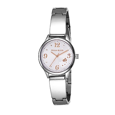 HELLO KITTY 凱蒂貓 時尚星鑽手錶-銀白x銀/31mm