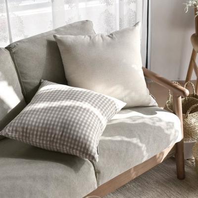 完美主義 水洗自然風45x45純棉靠枕套/韓國製/枕套/枕頭套/抱枕套(2色)