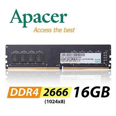 Apacer 16GB DDR4 2666 桌上型記憶體(1024x8)