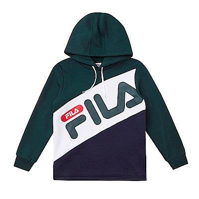 FILA KIDS 童長袖連帽上衣-綠 1TES-8405-GN