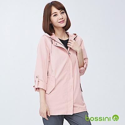 bossini女裝-連帽長袖外套01玫瑰色