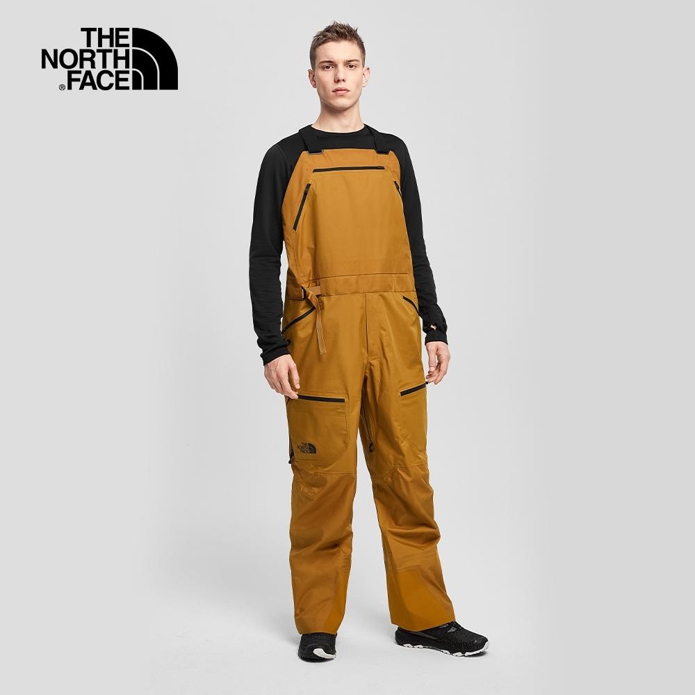 The North Face北面男款棕色防水透氣衝鋒吊帶褲|4QXOVC7