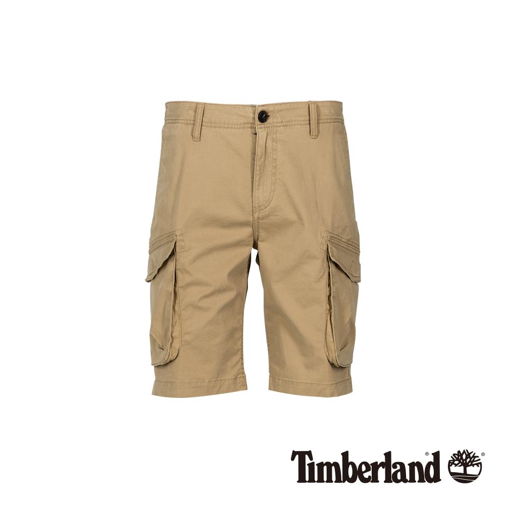 Timberland 男款卡其色復古直筒工裝休閒短褲 A1VTC