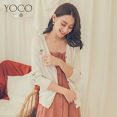 東京著衣-yoco 經典優雅氣質刺繡罩衫外套-S.M(共二色)