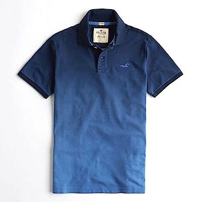 Hollister HCO  短袖 polo 藍色 0914