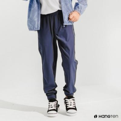 Hang Ten-男童-恆溫多功能-REGULAR FIT標準四向彈力吸濕快乾抗曬運動長褲-藍色
