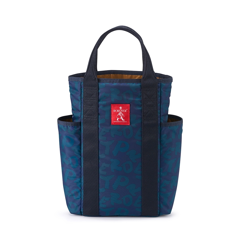 PORTER - 品味生活SIENA品酒收納袋(可入雙瓶) - 字母藍配綠