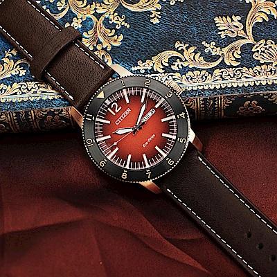CITIZEN 星辰 光動能日曆手錶-43.5mm(AW0079-13X)