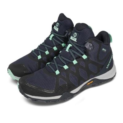 Merrell 戶外鞋 Siren 3 Mid GTX 中筒 女鞋 登山 越野 耐磨 黃金大底 支撐 防潑水 藍 綠 ML034280