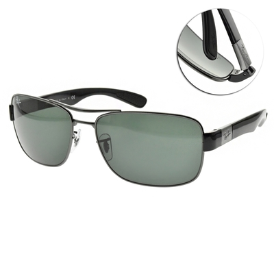 RayBan雷朋 太陽眼鏡 雙桿飛官方框款 /槍黑 #RB3522 00471
