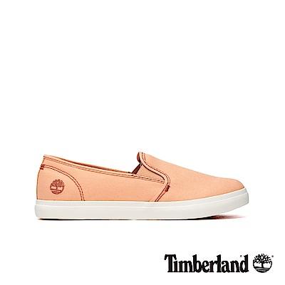 Timberland 女款淺紅色帆布休閒便鞋|A1YTT