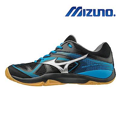 美津濃 WAVE SMASH 5 男女羽球鞋 黑藍 71GA196003